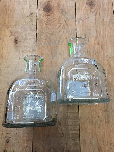 Landfilldzine Tequila Patron Silver Empty Bottle - Great centerpieces - Rustic Chic Empty Bottles (2)