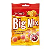20 Beutel M'Candy Big Mix Bonbons mit Kirsch Orange Erdbeer a 150g Mc Candy -