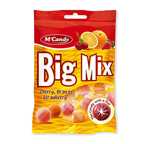 20 Beutel M'Candy Big Mix Bonbons mit Kirsch Orange Erdbeer a 150g Mc Candy
