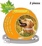 Collare Antipulci Cane Impermeabile, Design Impermeabile e 8 Mesi Efficacia Collare Antiparassitario Antizecche Regolabile Naturale per Piccoli Animali Domestici di Taglia Media(25inch) (2pcs)