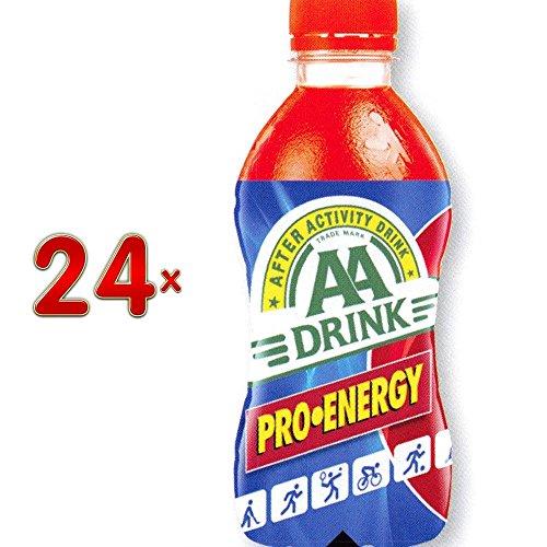 AA Drink Pro Energy 24 x 330 ml Flasche (Energie spendendes Getränk mit dem Geschmack roter Früchte)