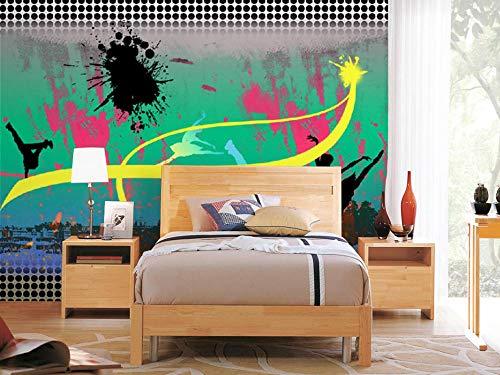 Muurschildering achtergrond muursticker graffiti fotobehang muurschilderijen kinderkamer slaapkamer wooncultuur behang sticker 250 * 175cm