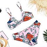 Bikini Flores Impresas Sexy Bikini Traje De Baño Acolchado Traje De Baño De Mujer Push Up Bikinis Set Imprimir Trajes De Baño Femeninos para Traje De Baño XL 3