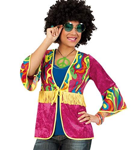 Party-Chic 12256 - Disfraz de Hippie para Mujer (Talla 46)