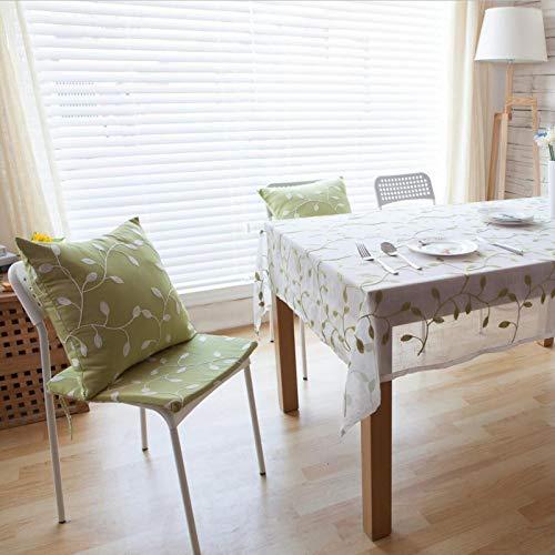 WSJIABIN Décoration de la Maison Nappe Polyester Coton Tissu Art Table Basse Couverture Serviette Nappe Style Rural Broderie Blanche 90 * 90 CM