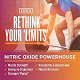Zhou Nitric Oxide with L Arginine, Citrulline Malate, AAKG and Beet Root | Powerful N.O. Booster and...