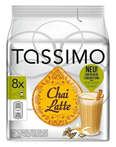 Tassimo Café Chai Latte 8 dosettes - Paquet de 5 (40 Boissons)