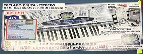 Professionelle Tastatur 61Tasten Bontempi PM747