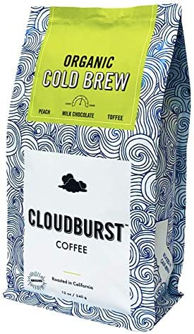 Cloudburst Organic Cold Brew Coarse Ground Coffee USDA Certified Organic 100 Arabica Coffee product image