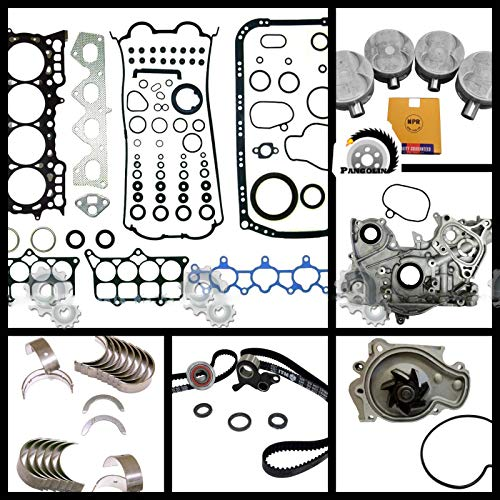 PANGOLIN 2.2L H22A4 DOHC VTec Master Engine Rebuild Kit for 98-01 Honda Prelude Spare Parts, 3 Month Warranty