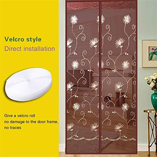 Haushalts DIY Sommer magnetische Türnetz Anti-Moskito und Fliegen Vorhänge schließen die Tür Bildschirm Küche Zimmer Vorhänge A4 B110xH210