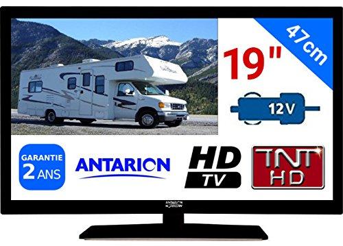 "TV TNT HD LED 18,5"" 48CM TNTHD USB HDMI - pour Camion Fourgon Camping Car 24 12 Volts 17W ANTARION ATV19HD"