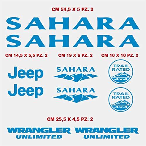 test Aufkleber-Set für Seitensticker, kompatibel mit Jeep Wrangler Unlimited Sahara Auto Tuning… Deutschland