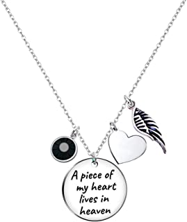 Elegant Chef Memorial Necklace Sympathy Gift- A Piece of My Heart Lives in Heaven Necklace