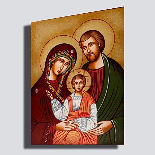 Printerland Cuadro Sagrada Familia 50 x 70 cm Yeso Madonna San Juseppe Natividad - Reparación impresión sobre Tela Cuadros Modernos Arte Abstracto Cocina salón Dormitorio