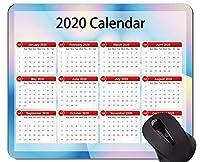2020カレンダーマウスパッドカスタマイズ、中央リングをテーマにしたラバーマウスパッド