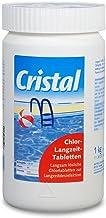 Cristal Chlortabletten 200 1Kg – Chlor-Langzeittabletten für Pools ab 20.000 l