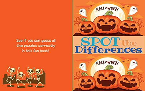 Spot The Differences_Halloween: Find 5-10 Differences Puzzle Book for Kids| Picture Puzzle_ Halloween Theme| Activities Book for Kids Aged 5-7 (English Edition)