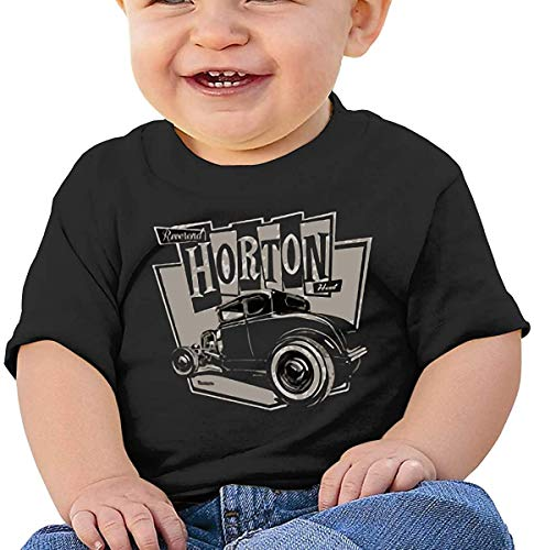 Whgdeftysd Horton Comfortable and Breathable Skin-Friendly Baby Short-Sleeved T-Shirt Black,2T