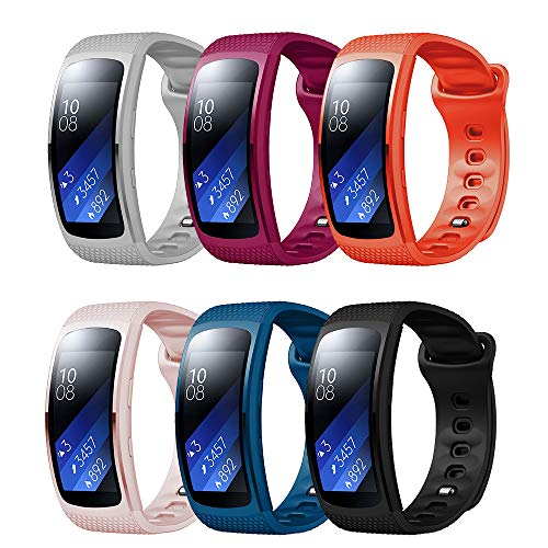 TOPsic Armband für Samsung Gear Fit2 / Gear Fit 2 Pro Armband, Ersatz Silikon Armband Armband Uhrenarmband für Gear Fit 2 Pro SM-R365 / Gear Fit2 SM-R36