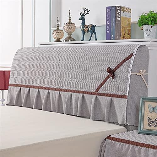 THJ Funda para cabecera de cama, funda elástica para cabecera, diseño todo incluido, protección elástica, se puede quitar y lavar (gris, 1,5 m)