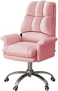 Executive stoel, verstelbare fauteuil stoel pc bureau draaibare lederen stoel met armen, ergonomische executive bureaustoe...