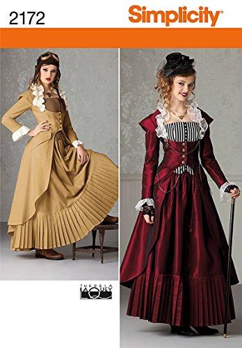 Simplicity 2172 HH - Patrones para Coser Disfraces para Mujer