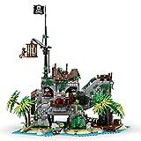 LDB SHOP MOC-77171, 2979 bloques de construcción con sujeción, modelo de construcción de bloques de construcción, isla prohibida, juego de construcción modular, compatible con casa Lego.