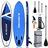 MaxKare SUP Inflatable Stand Up Paddle Board with 10.6' Long 32'' Wide 6'' Thick Premium Paddleboard & Triple Action Pump & Backpack Portable for Youth Adult Have Fun in River, Oceans and Lakes