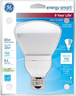 Ge Es Flood Light Bulb 6.5 In R30 Medium 15 W 65 W Equiv 750 Lumens 2700 K Energy Star Bx Frosted