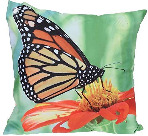 Trendkontor Gartenkissen 45 x 45 cm Außenkissen Dekokissen Outdoor Kissen 8 versch. Designs (Schmetterling 1)