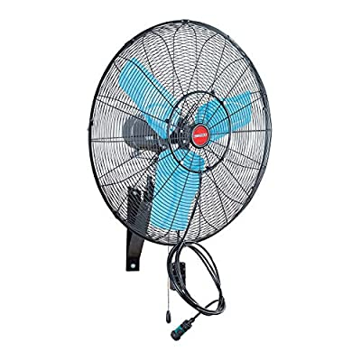 OEMTOOLS 23980 24 Inch High-Velocity Misting Wall Mount Oscillating Fan | Outdoor Water and Dust-Resistant Cooling Option | 7200 CFM | GFCI Plug | Ideal for Restaurants, Patios, and More