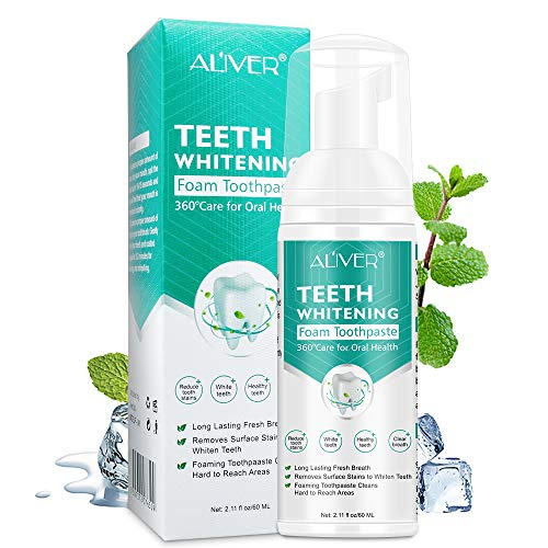 Teeth Toothpaste Cleansing Foam 60ml Baking Soda Toothpaste Intensive Stain Removal Toothpaste Travel Friendly Easy to Use Oral Care-Toothpaste Replacement Ultra-fine Mousse Foam