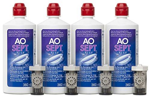Aosept Plus Kontaktlinsen-Pflegemittel, Systempack, 4 x 360 ml - 3