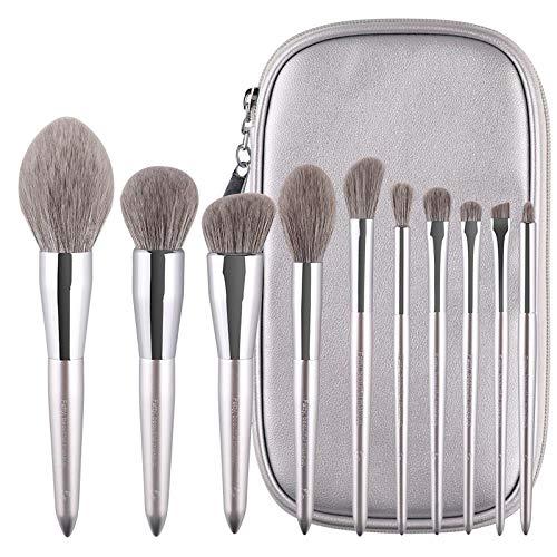 Poudre Lâche Douce Haute Brillance Fond De Teint Ombre À Paupières Pinceau De Maquillage Maquillage Outils De Beauté , Argent