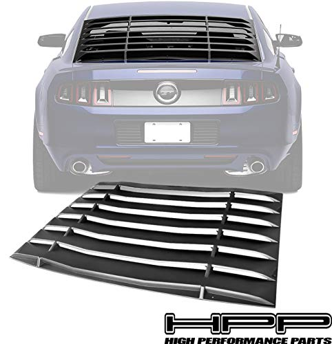 High Performance Part Compatible for 05-14 Ford Mustang Rear Window Louver Cover Windshield Rear Sun Shade Cover Unpainted Matted Black