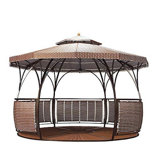 YUANZHOU Gartenpavillon Garten Pavillon Festzelt Zelt Mit Korrosionsschutz Und Wasserdichtem Boden,C