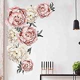 DIKHBJWQ Pfingstrose Rose Blumen Tapete Wandaufkleber Kunst
