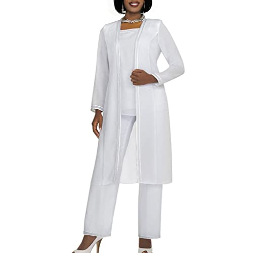 5560041bfbd84 Kelaixiang Long Sleeves Mother of The Bride Pant Suits Plus Size 3 Pieces