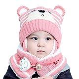 1. [Materiali di alta qualità] Questo set di berretto e sciarpa per neonati è fatto di cotone e poliestere. Un design foderato in cotone biologico a doppio spessore conferisce al collo un aspetto caldo. Con una vita elastica e regolabile, il berretto da bambino si adatta alla maggior parte dei tipi di testa, che non stringono la testa del bambino. Set sciarpe di cappelli per neonati