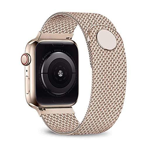 YGGFA Correa milanesa para Apple Watch 6 Band 44mm 42mm 40mm 38mm acero inoxidable pulsera correa de reloj para iwatch series 6 SE 5 4 3 2