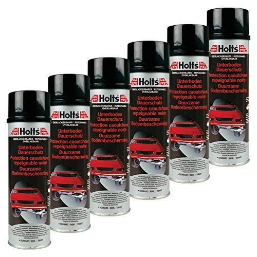 Holts 6X Unterboden-Schutz Kautschukspray Autopflege Steinschlagschutz Hohlraumschutz Unterbodenpflege Autolack Lackpflege Protection Soubassement 500 Ml 0082m