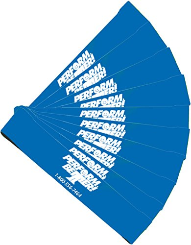 Perform Better Exercise Mini Band, Blue-Heavy - Set of 10 (Exercise Guide Included)