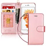 FYY Custodia iPhone 6S, Cover iPhone 6, Flip Custodia Portafoglio Libro Pelle PU con Porta Carte e Chiusura...