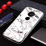 myEstore Étui de Protection Super Motif marbre Étui Doux TPU pour Motorola Moto E5 Play (Version...