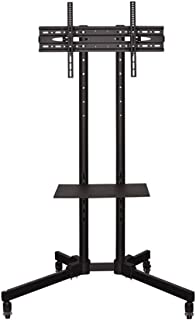 TV Wall Hanging, Floor-Standing Display Rack Stroller LCD TV Removable Stand Floor Rotating Universal Shelf (for 32-70 Inc...