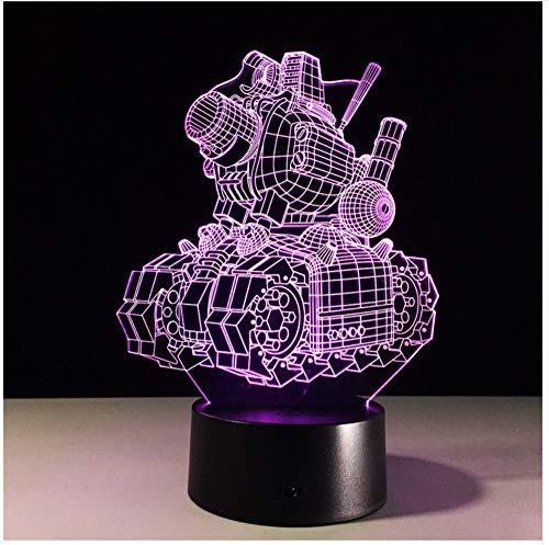 Illusion Visuelle 3D Lampe De Réservoirtransparent Acrylic Night Light Led Fée Lampa Changement De Couleur Touch Table Bombante Lambas Bol Light