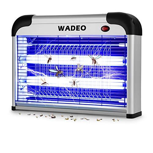 WADEO Insektenvernichter, Insektenkiller Moskito Killer mit UV-Licht, Mückenlampe Elektrische für Innenräume, Gärten, Chemiefrei, 20W Fluginsektenvernichter Profi 80 m²