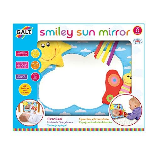 Galt Toys 1004711 Smiley Sun Mirror Baby-Spiegel, Mehrfarbig
