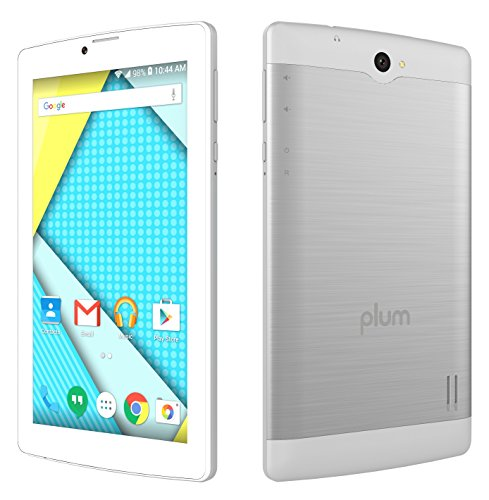 Plum Optimax 12 - Tablet Phone Phablet 4G GSM Unlocked 7' Display Android Dual Camera ATT Tmobile MetroPCS etc - Silver